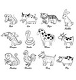 chinese astrology isolated on white background vector image