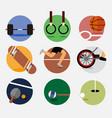circular sport emblem graphic set vector image