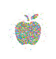 abstract apple splash vector image vector image
