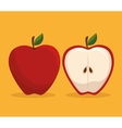 apple icon design vector image vector image
