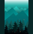 background with mountains and fir trees vector image vector image
