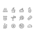 Black line icons for mexican menu vector image