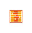 brick logo vector image vector image
