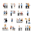 Business People Workplace Set vector image vector image