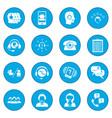 call center service icon blue vector image vector image