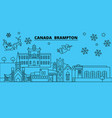 canada brampton winter holidays skyline merry vector image vector image