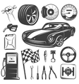 Car Repair Garage Icon Set vector image vector image