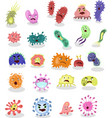 cartoon bacteria collection set bacteria