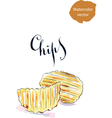 Chips vector image vector image