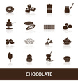 chocolate icons set eps10 vector image vector image