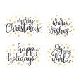 christmas calligraphy set vector image