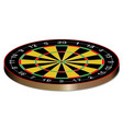 classic typical darts board vector image vector image
