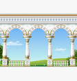 classical arch of the eastern palace vector image vector image