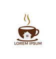 coffee cafe house logo vector image vector image