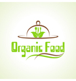creative organic food design word concept vector image