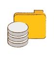 Data center storage icon image