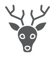 deer glyph icon animal and zoo stag sign vector image