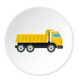dumper truck icon circle vector image vector image