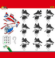 educational shadow game with aircraft vector image vector image