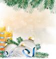 Festive Glitter Christmas Background vector image vector image
