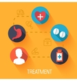 flat medical icons concept background desig vector image