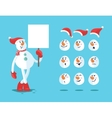Funny snowman Cartoon set vector image