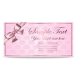 Gift Card Sertificate Coupon Invitation vector image vector image