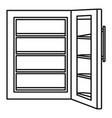 glass door fridge icon outline style vector image vector image
