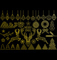 gold geometric christmas set vector image vector image