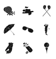 Golf club set icons in black style Big collection vector image vector image