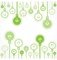 Green bulb background stock vector image vector image