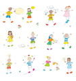 happy learning kids vector image vector image