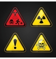 Hazard warning set vector image vector image