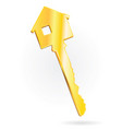 house key vertical vector image vector image
