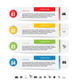 infographic icon set colored vector image