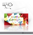 Invitation Card Design Template vector image vector image