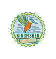 kingfisher side rosette retro vector image vector image