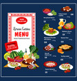 korean cuisine traditional dishes vector image