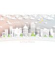 little rock arkansas usa city skyline in paper vector image vector image