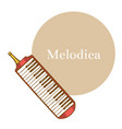 melodica in hand-drawn style vector image vector image