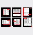 Minimal design background in black red white