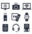 modern devices and electronic gadgets icons vector image vector image