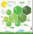 modern ecology infographic design layout 2 vector image