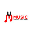 modern music logo initials m vector image vector image