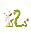 Mother Snail with Rattle and Baby Childish Animal vector image