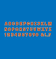 paper simple alphabet lettersnumbers vector image vector image