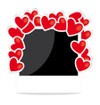 Photo frame with hearts vector image vector image