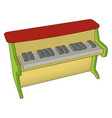 piano toy on white background vector image vector image