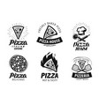 pizza pizzeria logo or label food icon set vector image