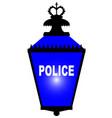 police station blue light vector image vector image